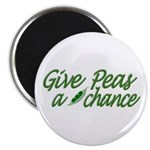 "Give Peas a Chance 2.25"" Magnet (100 pack)"