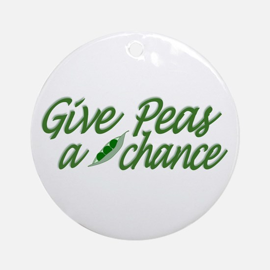 Give Peas a Chance Ornament (Round)