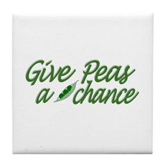 Give Peas a Chance Tile Coaster