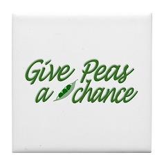 Give Peas a Chance Tile Coaster