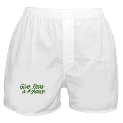 Give Peas a Chance Boxer Shorts