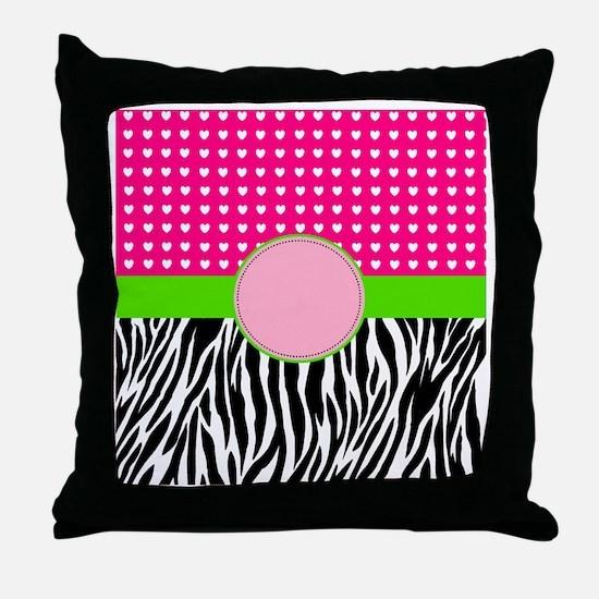 Cute Zebra christmas Throw Pillow