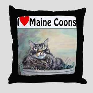 I love Maine Coons Throw Pillow