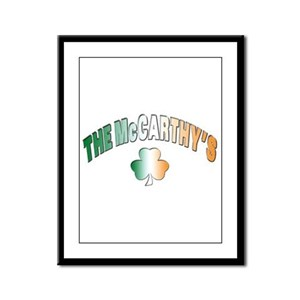 The McCarthy family Framed Panel Print