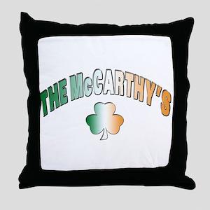 The McCarthy family Throw Pillow