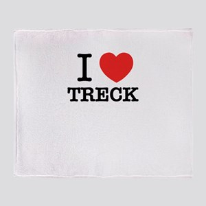 I Love TRECK Throw Blanket