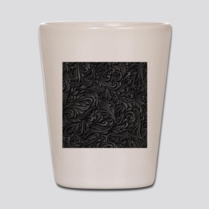 Black Flourish Shot Glass