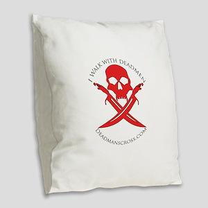 Deadman's Cross Burlap Throw Pillow