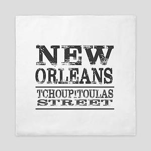 New Orleans Tchoupitoulas Street Queen Duvet
