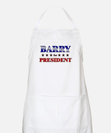 BARRY for president BBQ Apron