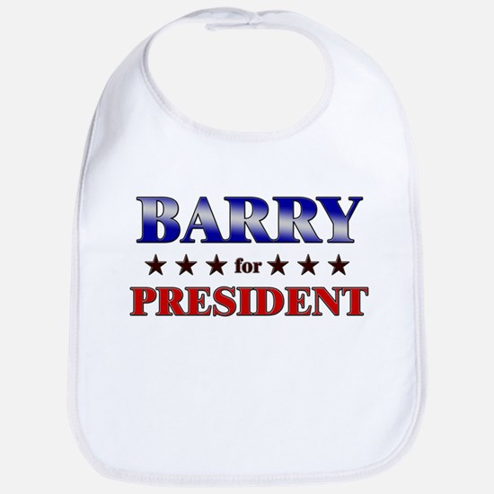 BARRY for president Bib