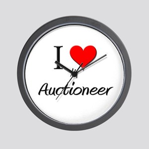 I Love My Auctioneer Wall Clock