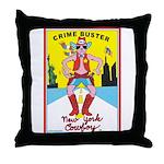 CRIME BUSTER(New York Cowboy) Throw Pillow