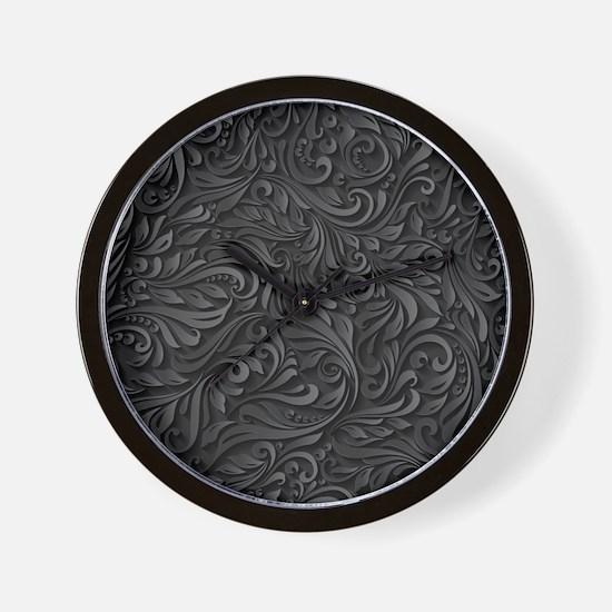 Black Flourish Wall Clock