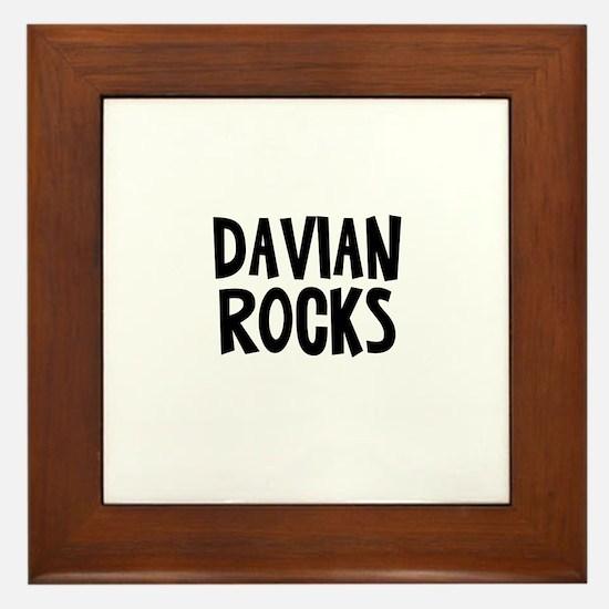 Davian Rocks Framed Tile