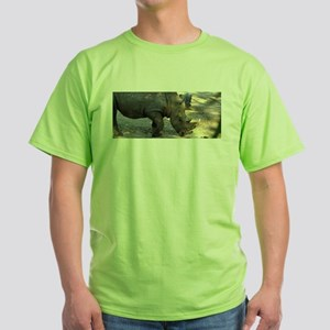 Rhino At Philadelphia Zoo Green T-Shirt