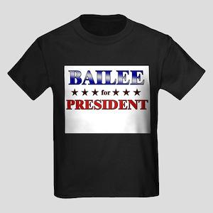 BAILEE for president Kids Dark T-Shirt