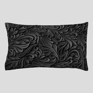 Black Flourish Pillow Case