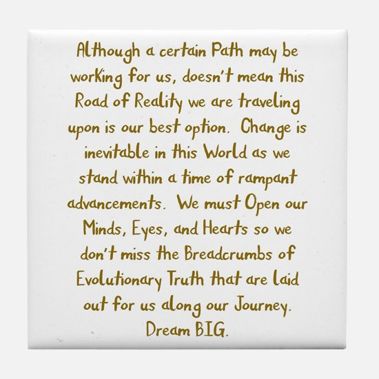 Breadcrumbs of Evolutionary Truth Tile Coaster