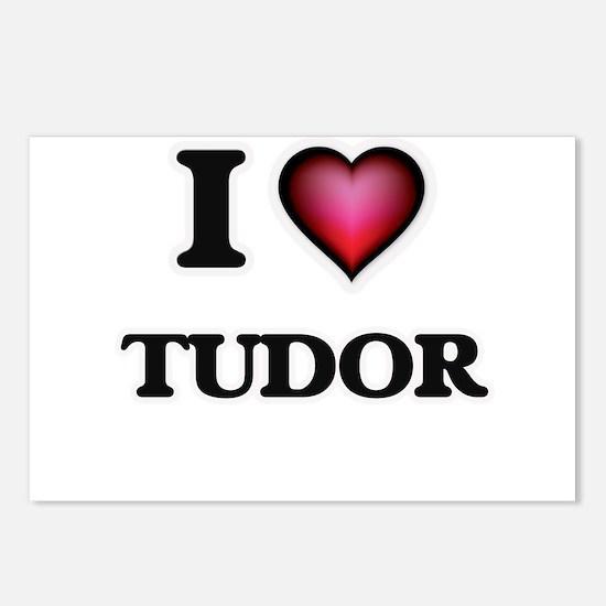 I love Tudor Massachusett Postcards (Package of 8)