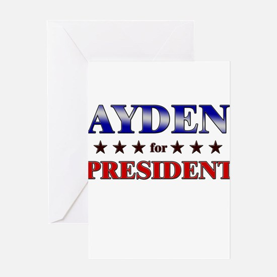 AYDEN for president Greeting Card
