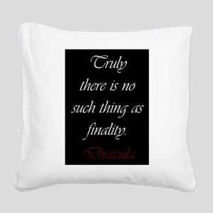 There Is No Such Thing As Fin Square Canvas Pillow