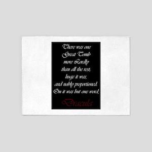 One Word Dracula 5'x7'Area Rug