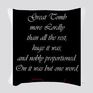 One Word Dracula Woven Throw Pillow