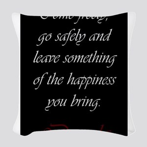 Leave Something Of The Happine Woven Throw Pillow