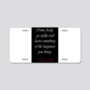 Leave Something Of The Happ Aluminum License Plate