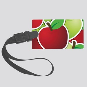 Funky mixed apples Large Luggage Tag
