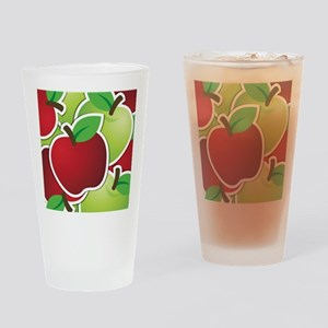 Funky mixed apples Drinking Glass