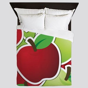 Funky mixed apples Queen Duvet