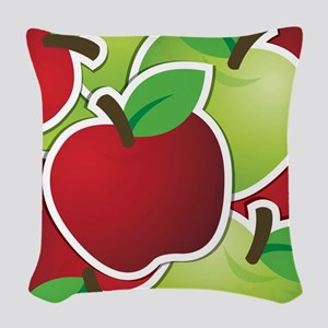 Funky mixed apples Woven Throw Pillow
