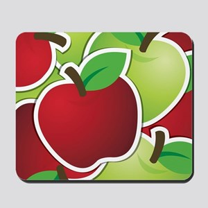 Funky mixed apples Mousepad