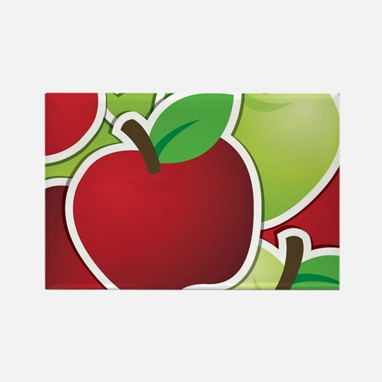 Funky mixed apples Rectangle Magnet