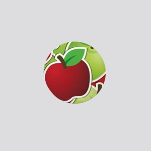 Funky mixed apples Mini Button
