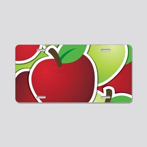Funky mixed apples Aluminum License Plate