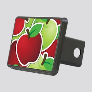 Funky mixed apples Rectangular Hitch Cover