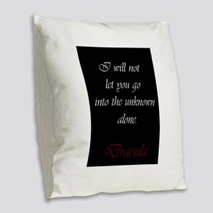 I Will Not Let You Go Burlap Throw Pillow