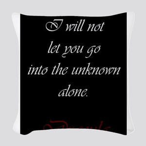 I Will Not Let You Go Woven Throw Pillow