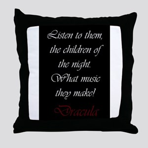The Children of the Night Throw Pillow