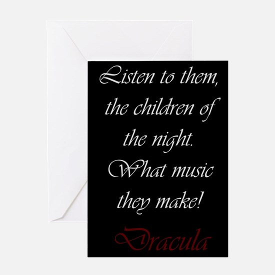 The Children of the Night Greeting Cards