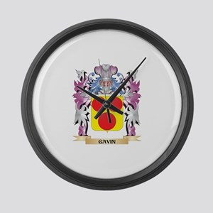 Gavin Coat of Arms (Family Crest) Large Wall Clock