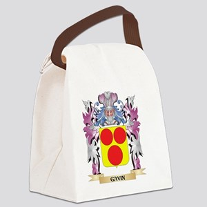 Gavin Coat of Arms (Family Crest) Canvas Lunch Bag