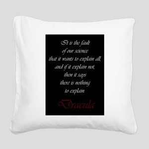 The Fault of Science Square Canvas Pillow
