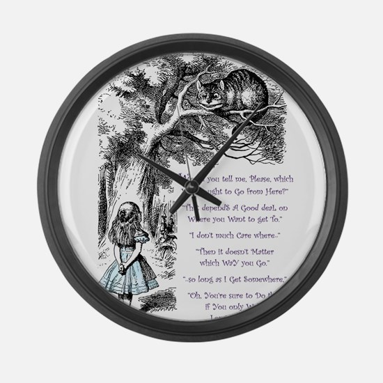 Where Do You Want To Go? Large Wall Clock