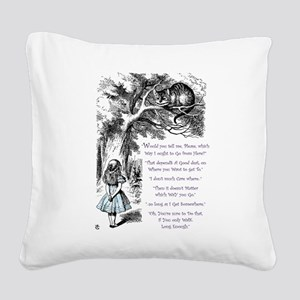 Where Do You Want To Go? Square Canvas Pillow