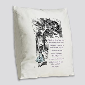 Where Do You Want To Go? Burlap Throw Pillow