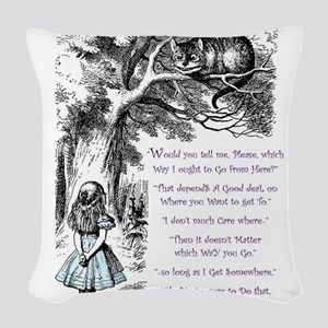 Where Do You Want To Go? Woven Throw Pillow